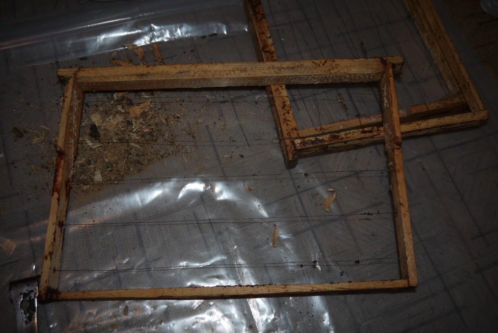 чистка старых рамок от воска