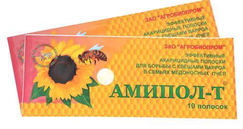 препарат амипол для борьбы с клещами варроа пчел